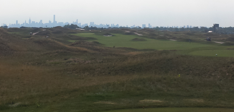 New York City Skyline Golf Picture