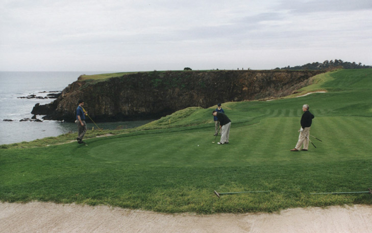 Pebble #8 Picture, top golf photo, golf top 18 photo, golf top 100 photo, dream golf photo, Pebble Golf Photo