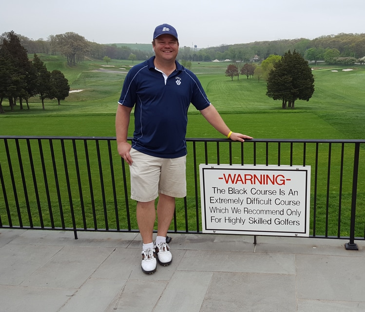 Bethpage Black Difficult Course Sign Picture